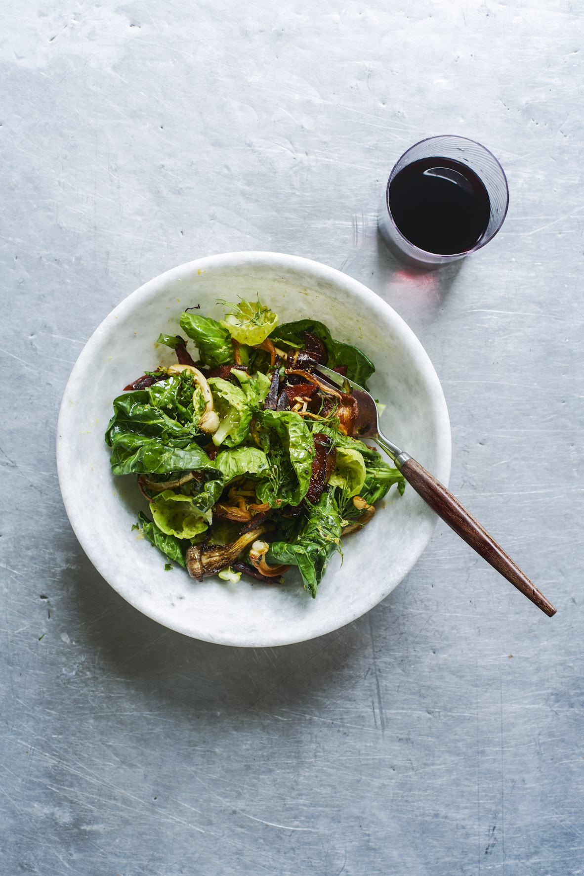 sprout top chorizo and mushroom salad