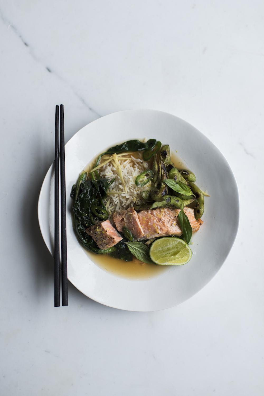 Ginger & Thai Basil Salmon Broth