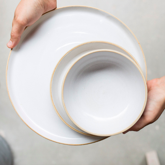 these ceramics match so well with  the white dinner set