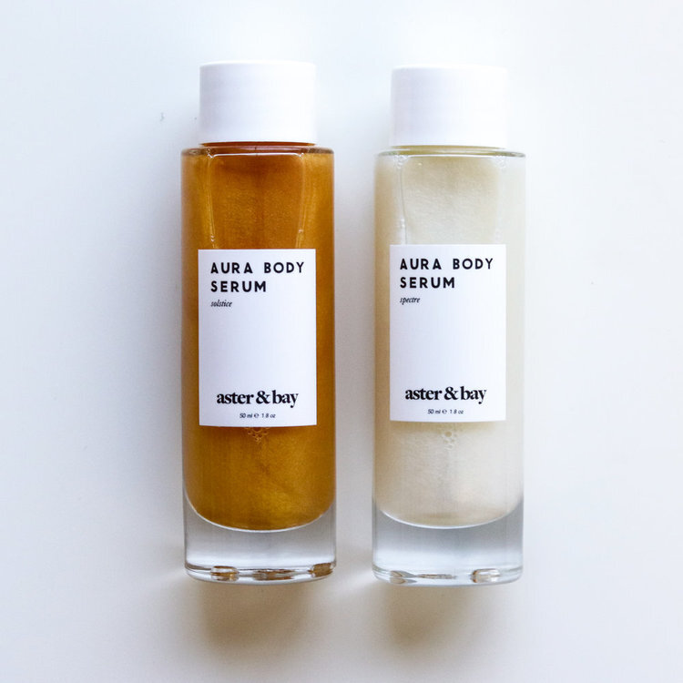 these body oils are really moisturising and have mica in them for a really natural shimmer