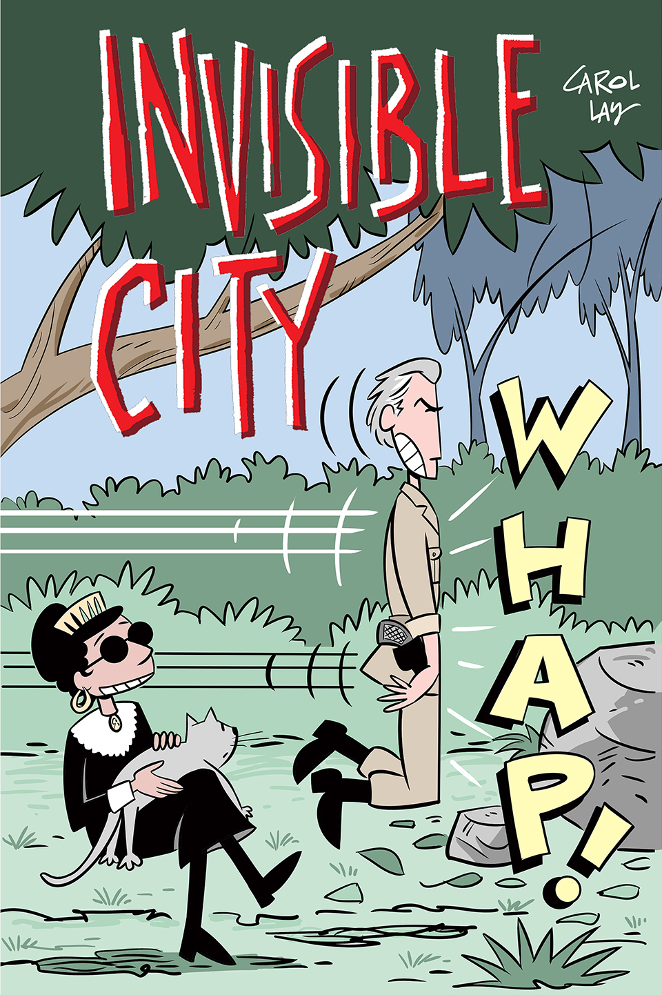 """Invisible City - The serial story """"Invisible City"""" formatted for digital devices in full color. 79 pages from Waylay Books, 2016."""
