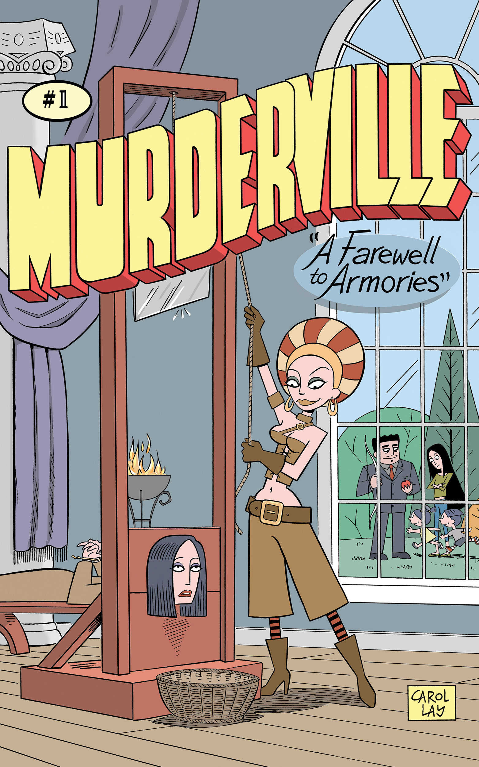 A Farewell to Armories - The second Murderville story features a sexy arms dealer with bad intentions, formatted for digital devices in full color. 29 pages from Waylay Books, 2016.