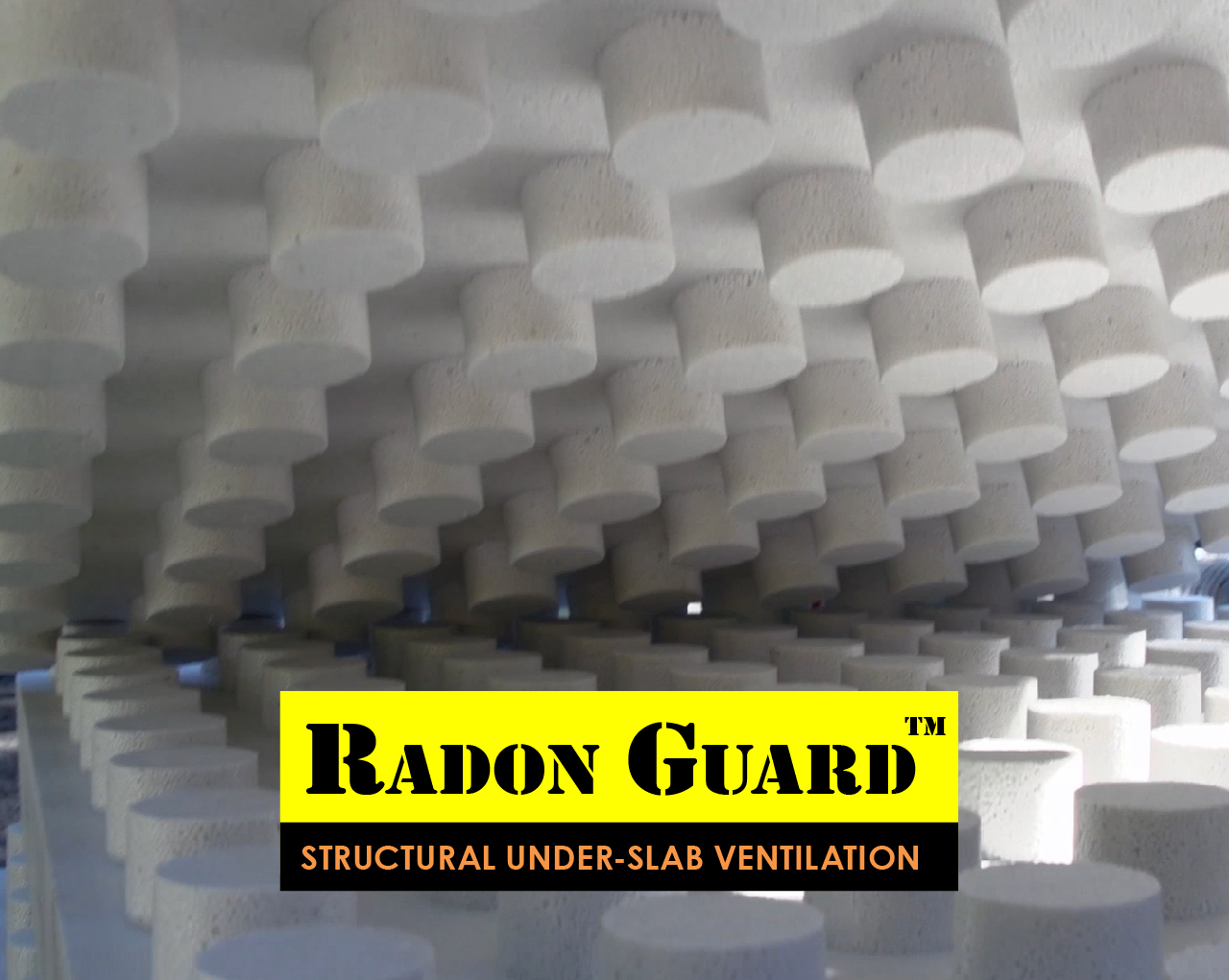 Unstacking sheets of Radon Guard.