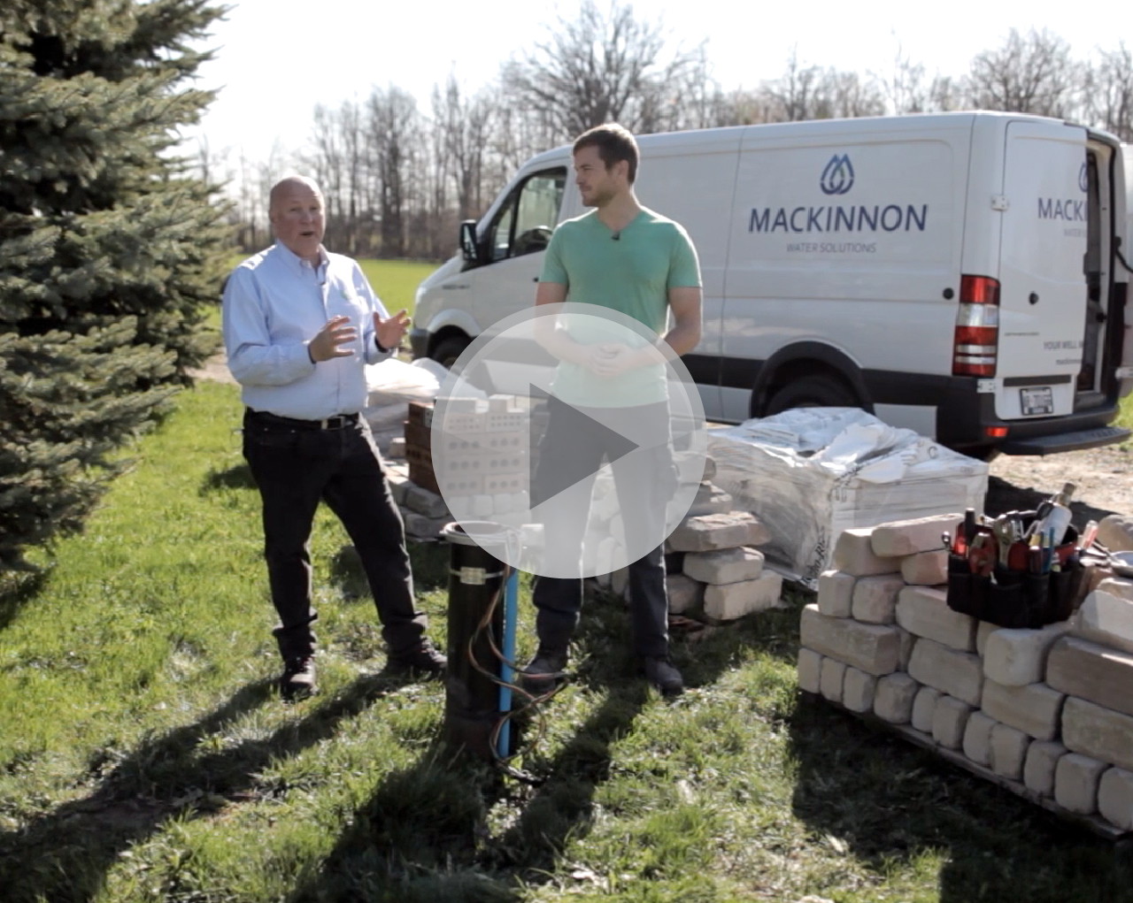 Mike Holmes Jr. teams up with Radon Environmental's David Innes to install Airwell radon in water mitigation system.