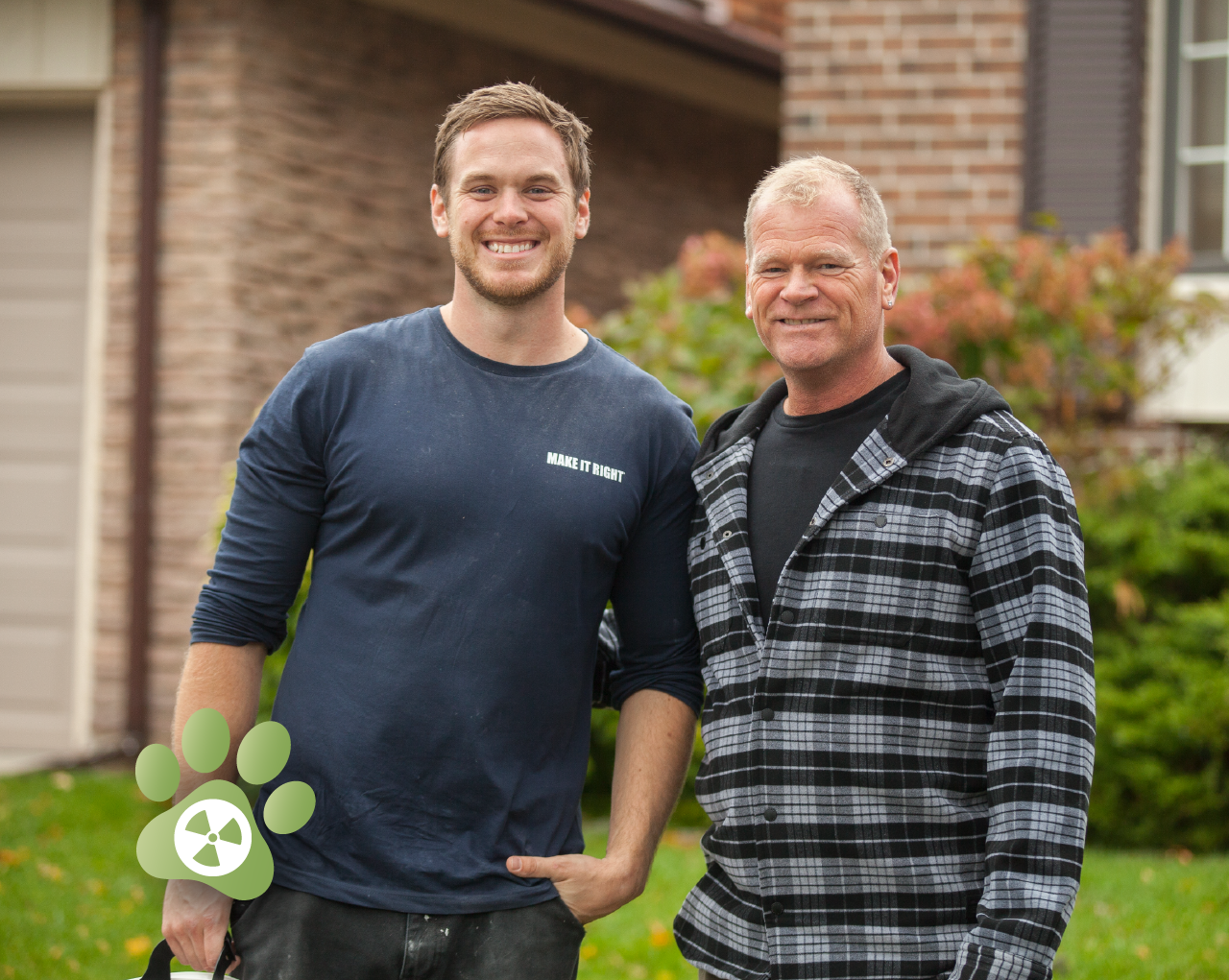 "Mike Holmes and Mike Jr., hosts of ""Holmes on Homes®.""  Video ."