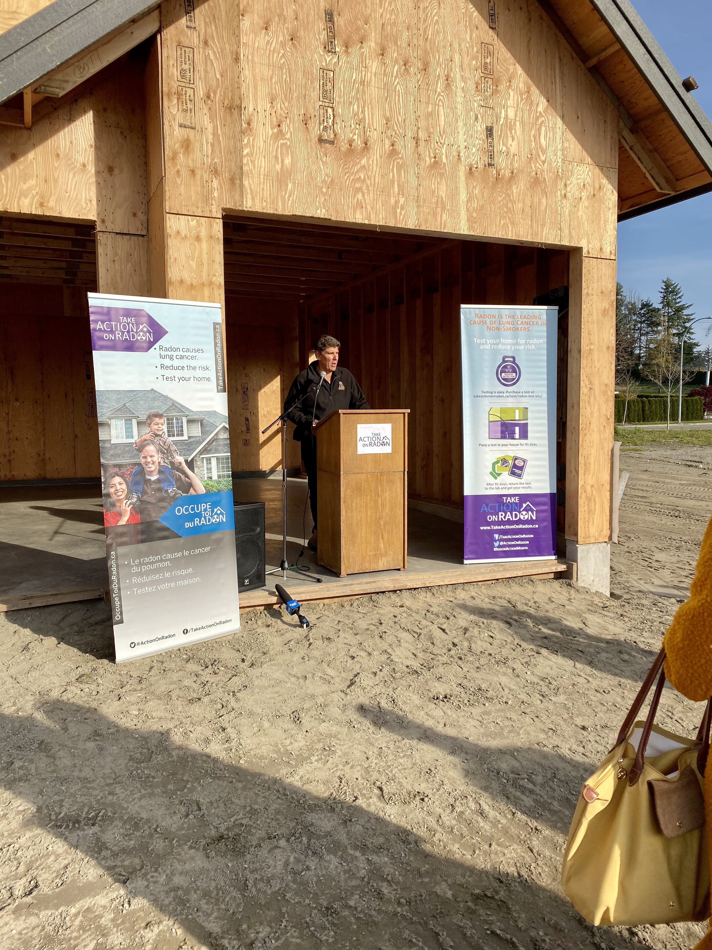 """Johnathan welcoming the attendees and city officials and dignitaries explaining why it's important to """"Build it Right"""" to save lives!"""