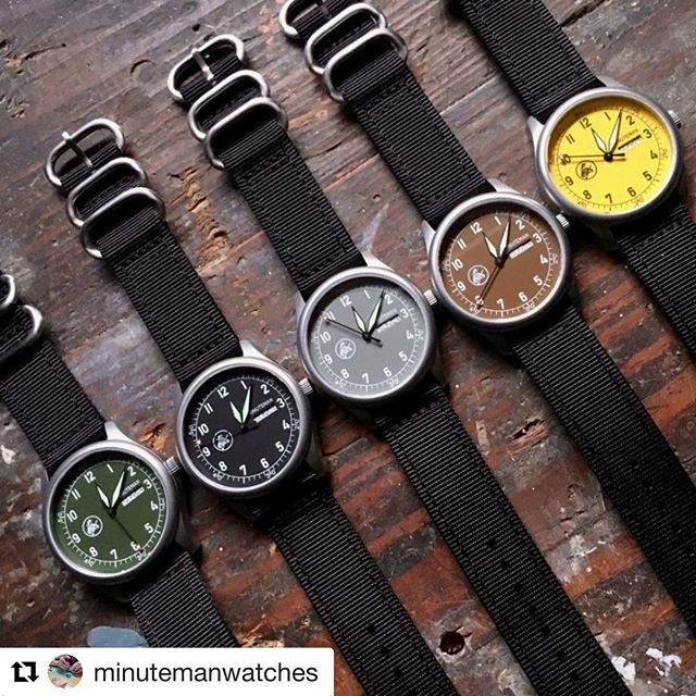 Check out @patrickwatches review of the @minutemanwatches A11 collection featuring the rock solid Ameriquartz caliber 7122 movement. 💪🇺🇸 click the link in our bio to read the full review. #Repost @minutemanwatches ・・・ #Minuteman_watches would like to share with you the first review by @patrickwatches for the great watch news site @wristwatchreview of our A11 series. You can read that and see several more photos of these watches here http://tinyurl.com/yxepvwet  Part of the proceeds from each American built Minuteman A11 sold will go to #charity #HomesForOurTroops @homesforourtroops