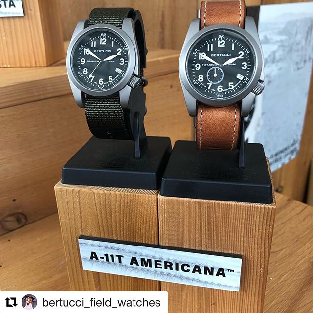Coming soon... The @bertucci_field_watches A11T Americana collection featuring the #Ameriquartz cal. 7321 & cal. 73210 movements.  #Repost @bertucci_field_watches ・・・ New A-11T Americana Titanium - USA movement 🇺🇸