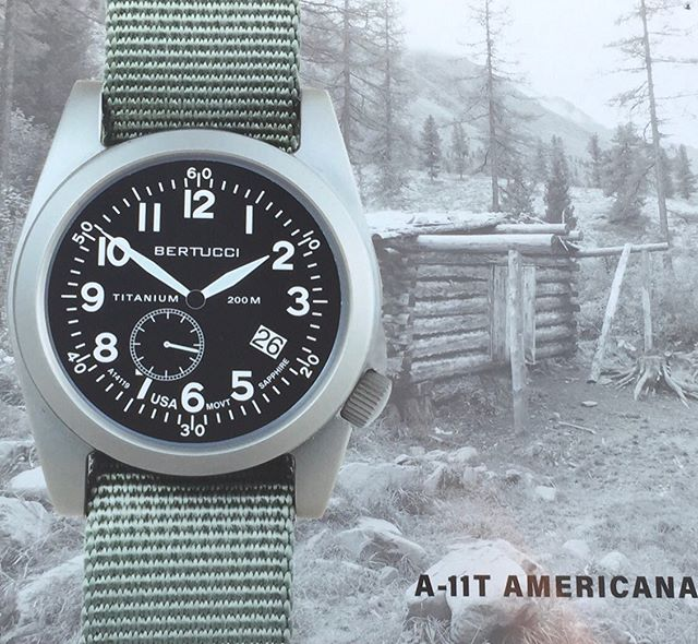 The all new Bertucci A-11T Americana titanium collection powered by Ameriquartz. Keep an eye out for these when they launch. They will sell out fast! 🇺🇸🇺🇸🇺🇸 #Ameriquartz #Bertucciwatches #Titanium #Fieldwatch #USA