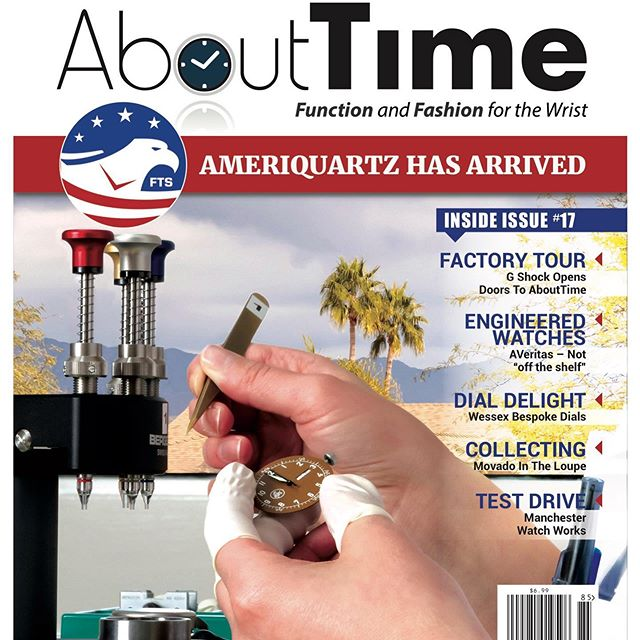 Ameriquartz has arrived! Check out the cover story in the latest issue of About Time Magazine.  Grab a copy at your favorite local spot or follow this link to view the digital copy and read all about it: https://joom.ag/aQWe/p36 #FTS #Ameriquartz #Quartzmovement #USA #Watchmaking #ExtraExtra