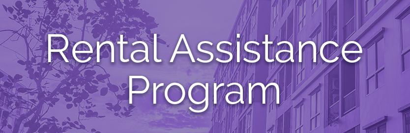 Rental assistance program button