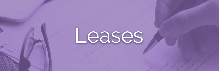 Leases button