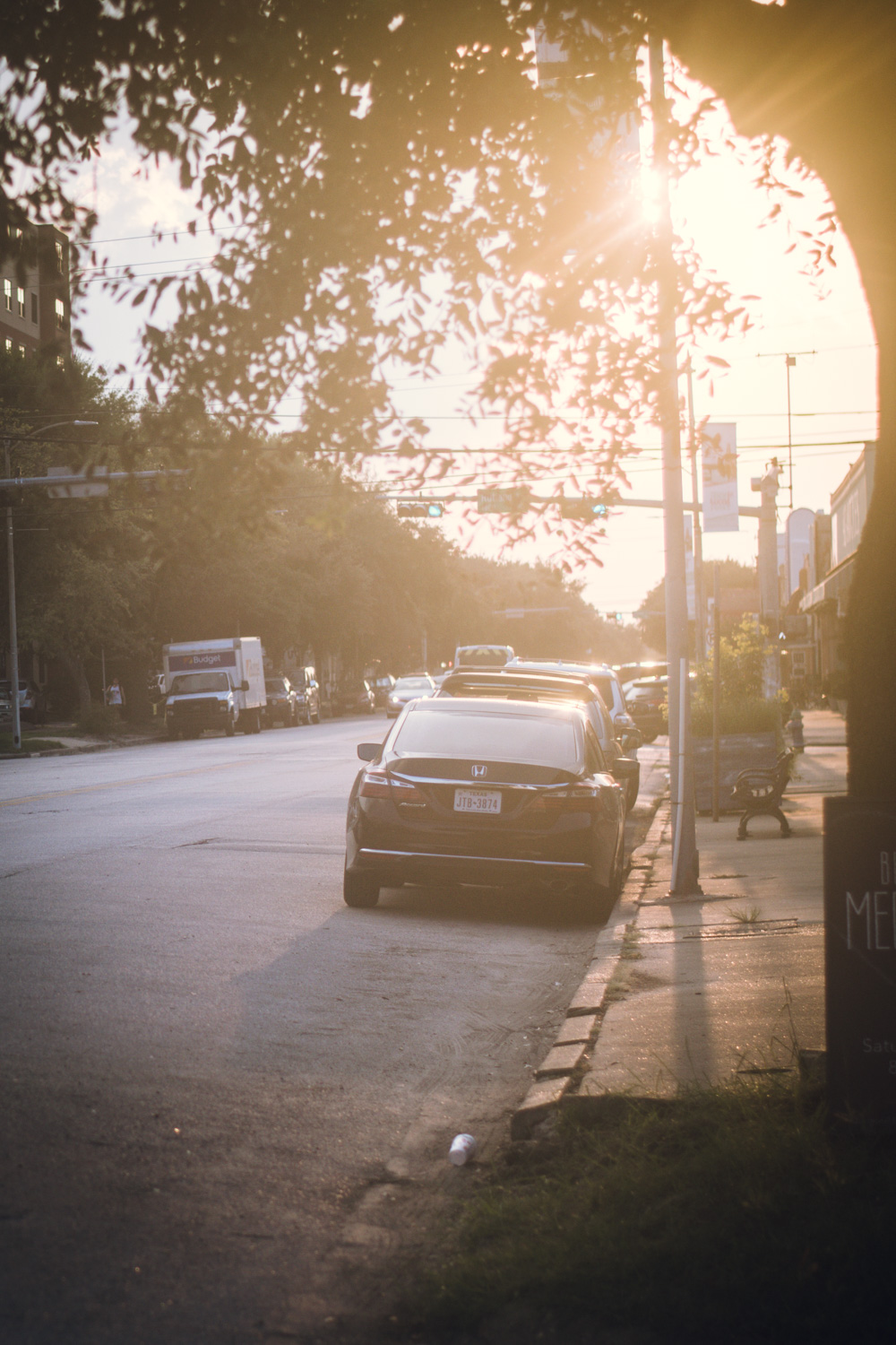 sunrise on 19th st. in Houston Heights