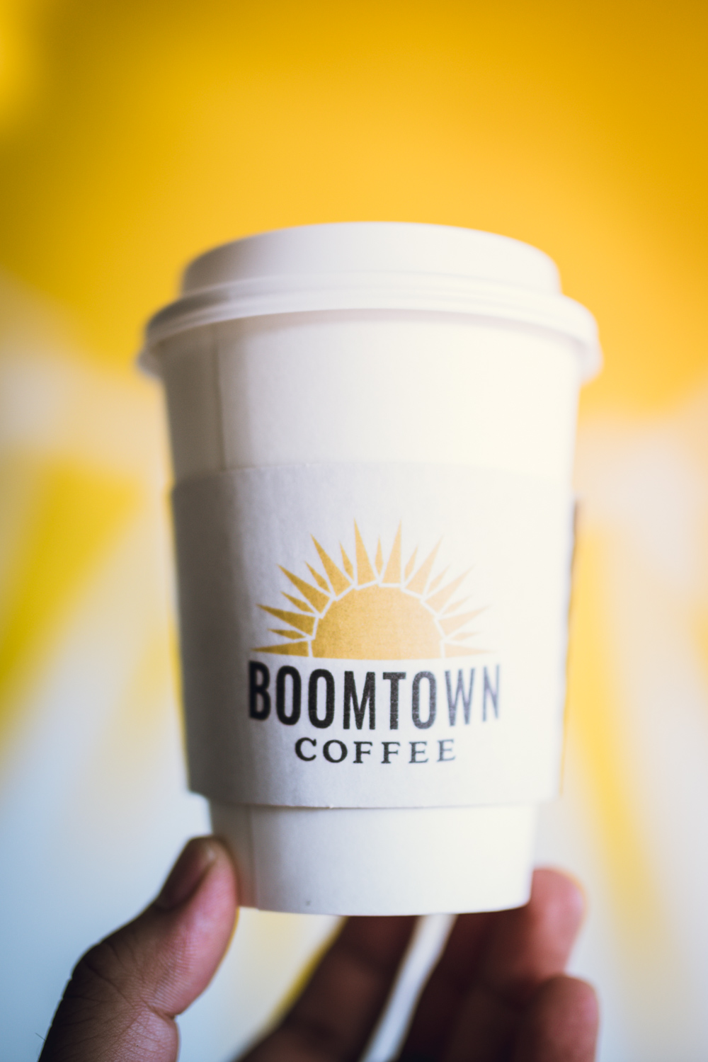Boomtown coffee to go cup