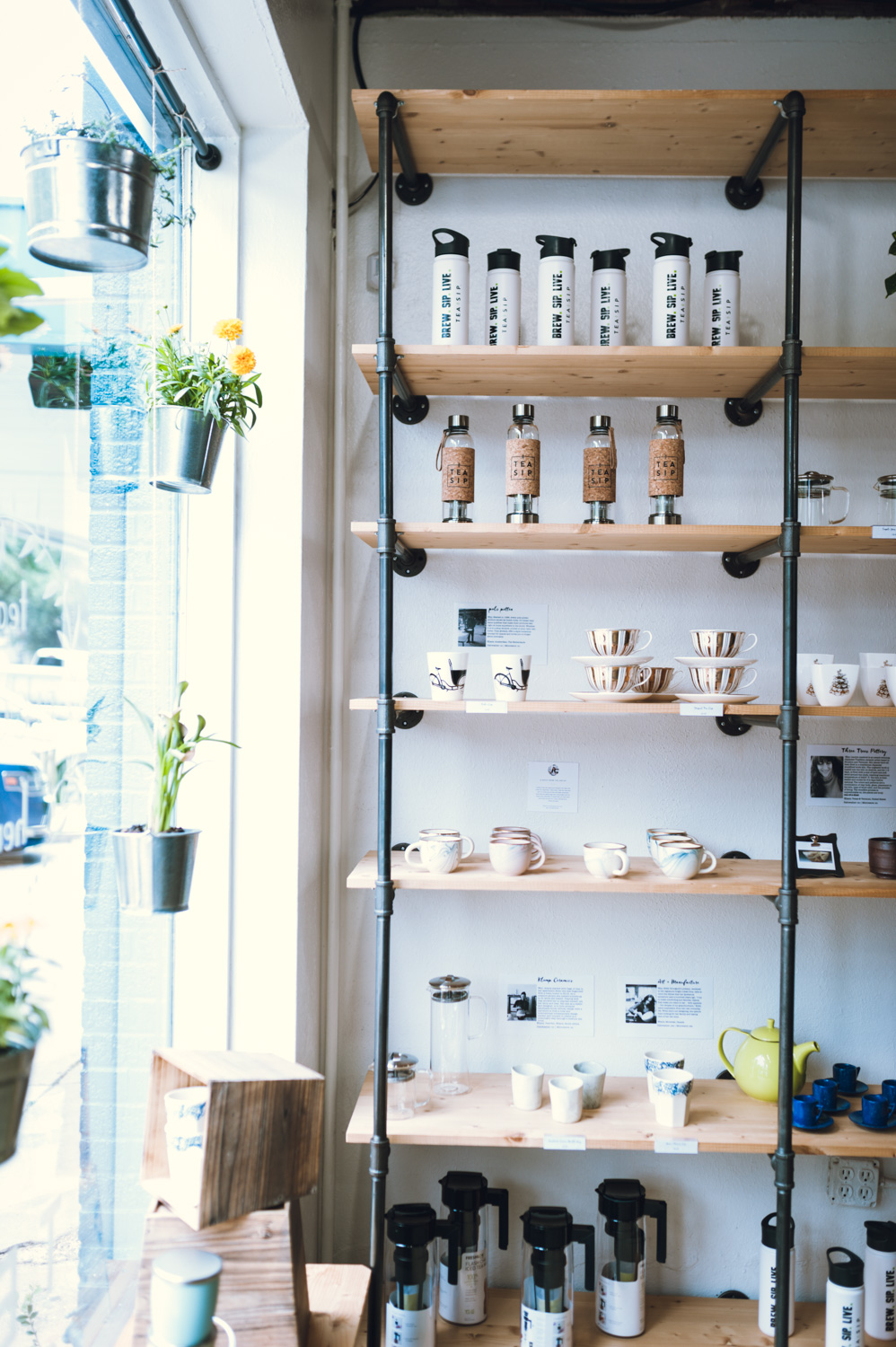 Tea Sip merchandise and ceramics
