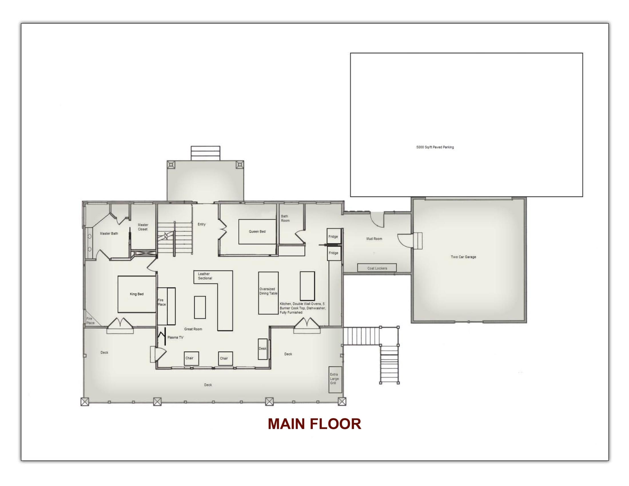 Stonefly Lodge Main Floor Floor Plan