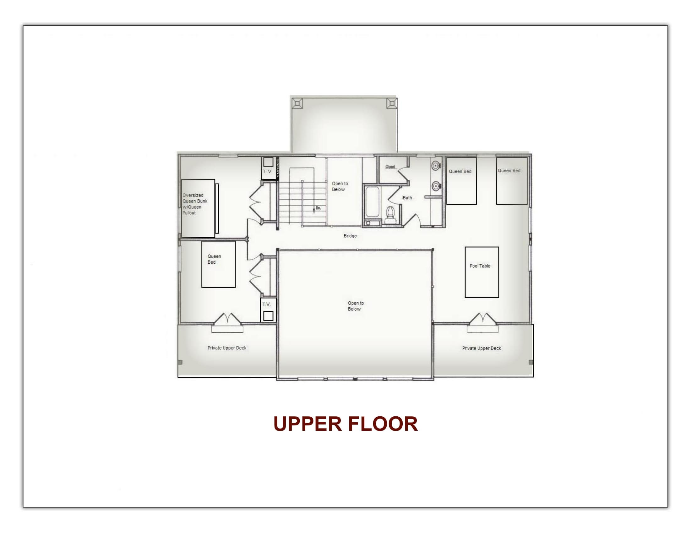Stonefly Lodge Upstairs Floor Plan
