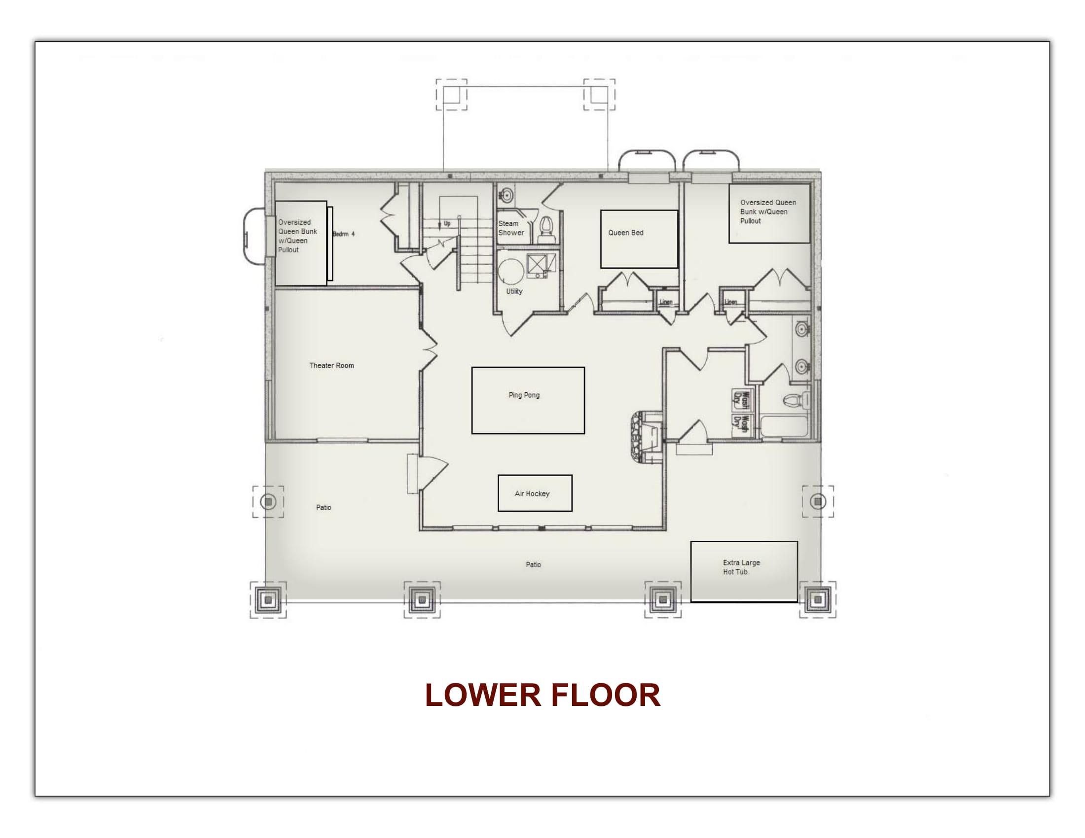 Stonefly Lodge Downstairs Floor Plan