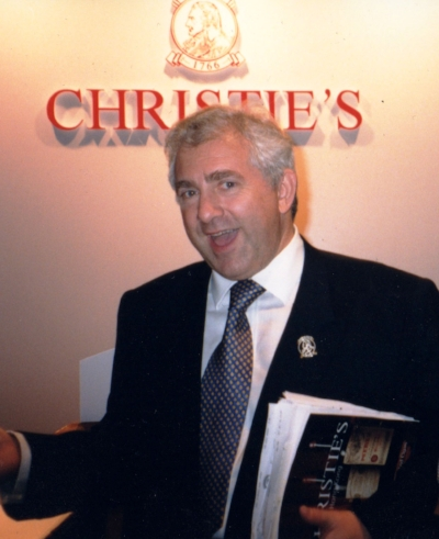 Christopher Burr as head of wine sales at Christie's auction house London.