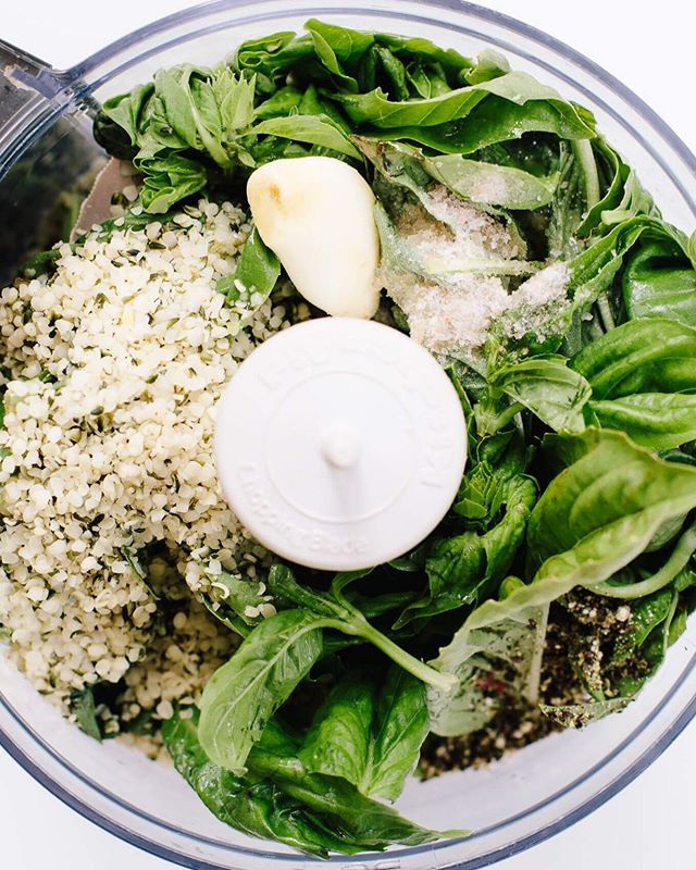 HOMEMADE BASIL PESTO 🌱 ⠀ It's so easy to make and incredibly versatile! I love making pesto dairy-free and with hemp seeds. It uses nutritional yeast for that cheesy, umami flavor and a boost of B vitamins!⠀ ⠀ INGREDIENTS:⠀ ⠀ 1 cup (60g) fresh basil, tightly packed⠀ 2 tablespoons hemp seeds⠀ 1 1/2 tablespoons nutritional yeast (optional)⠀ 1 tablespoon lemon juice, freshly squeezed⠀ 1 clove garlic⠀ 1/4 teaspoon salt⠀ pepper, to taste⠀ 2 tablespoons olive oil⠀ 3-6 tablespoons filtered water⠀ ⠀ HOW TO USE:⠀ ⠀ As a sauce for pasta (@eatBanza is my favorite!) or pizza⠀ Alternative to a mayo-based pasta salad⠀ Drizzled on tomatoes for a quick side dish (top on toast for a quick bruschetta!)⠀ Mix with hummus⠀ Spread on a sandwich⠀ Drizzle on eggs⠀ Toss with white beans⠀ Mix into quinoa or other grain⠀ Add some apple cider vinegar to make a dressing⠀ ⠀ What's your favorite way to use pesto?? #nourishesbtnutrition #thisissummer #basilpesto ⠀
