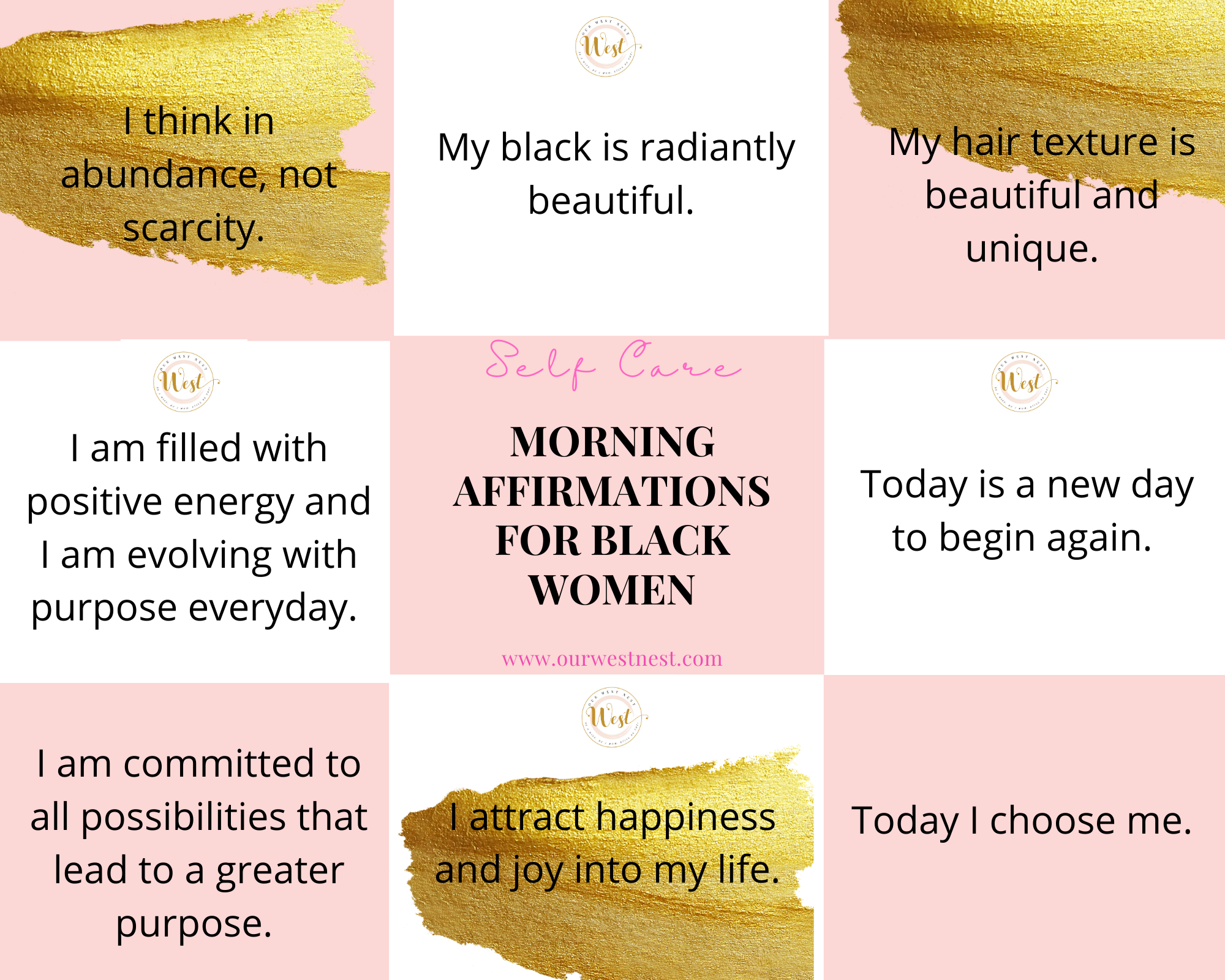 55 Morning Affirmations and Quotes for Black Women to Empower Themselves Daily — Our West Nest