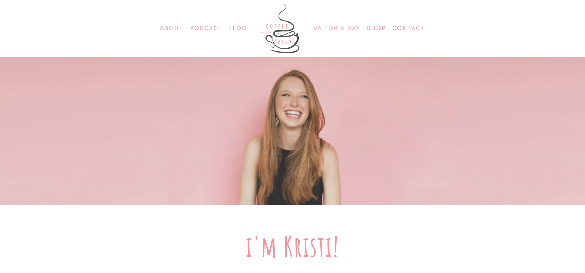 Coffee with Kristi - Squarespace