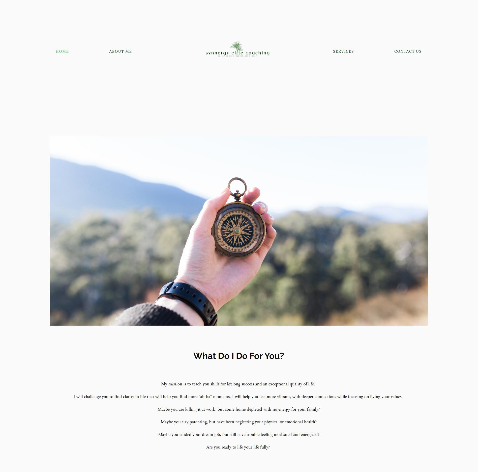Synnergy Elite Coaching - Squarespace Custom Website