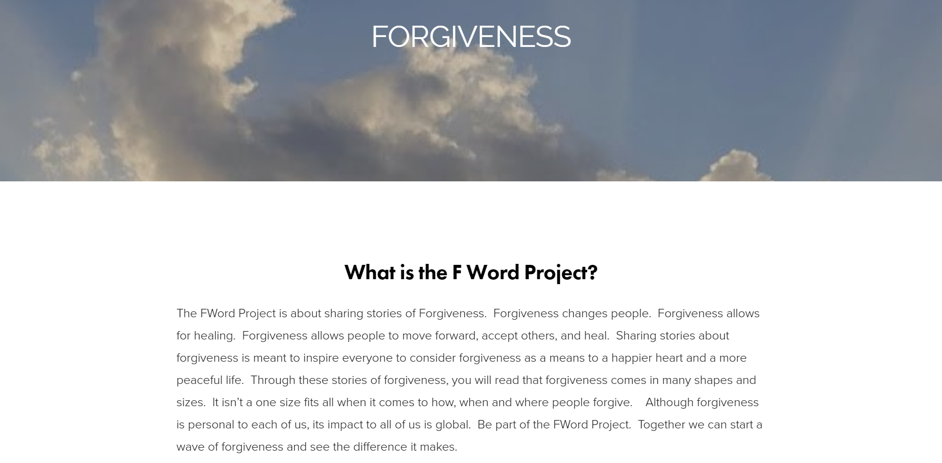 F Word Project - Squarespace Custom Website