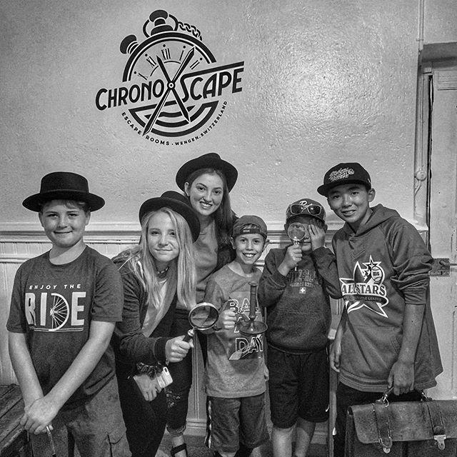 ChronoXscapes little detectives showing us how it's done ! #canyouescape #chronoxscape #wengen #escaperoom #littledetectives #ricksteves