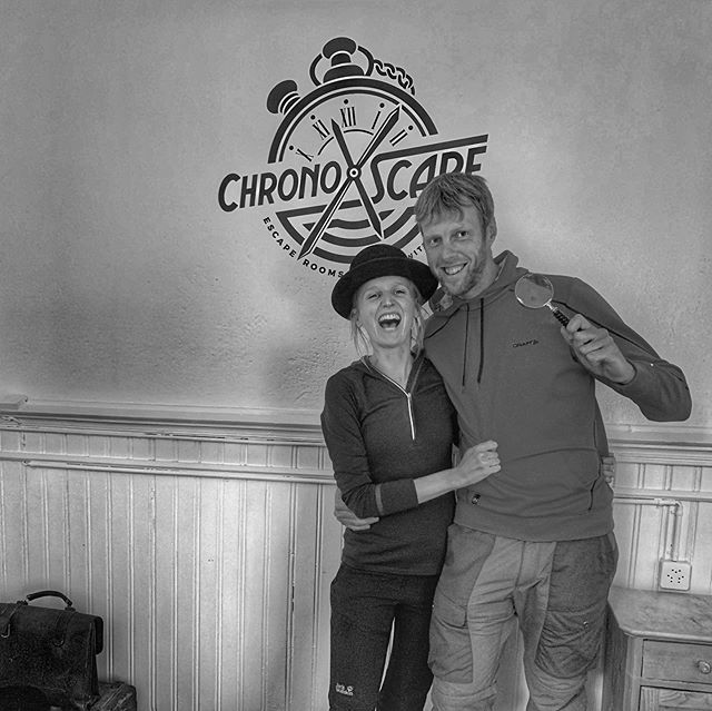 Awesome Woop Woop duo from Belgium. Thanks for your passing by on this rainy day. #wengen #escaperoom #rainydays #wheninwengen #legends #canyouescape #chronoxscape #powerduo #woopwoop
