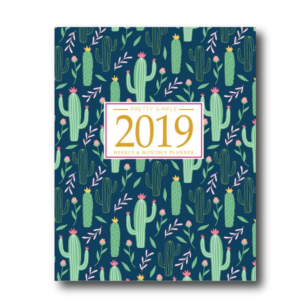 2019 Weekly Planner: Cactus