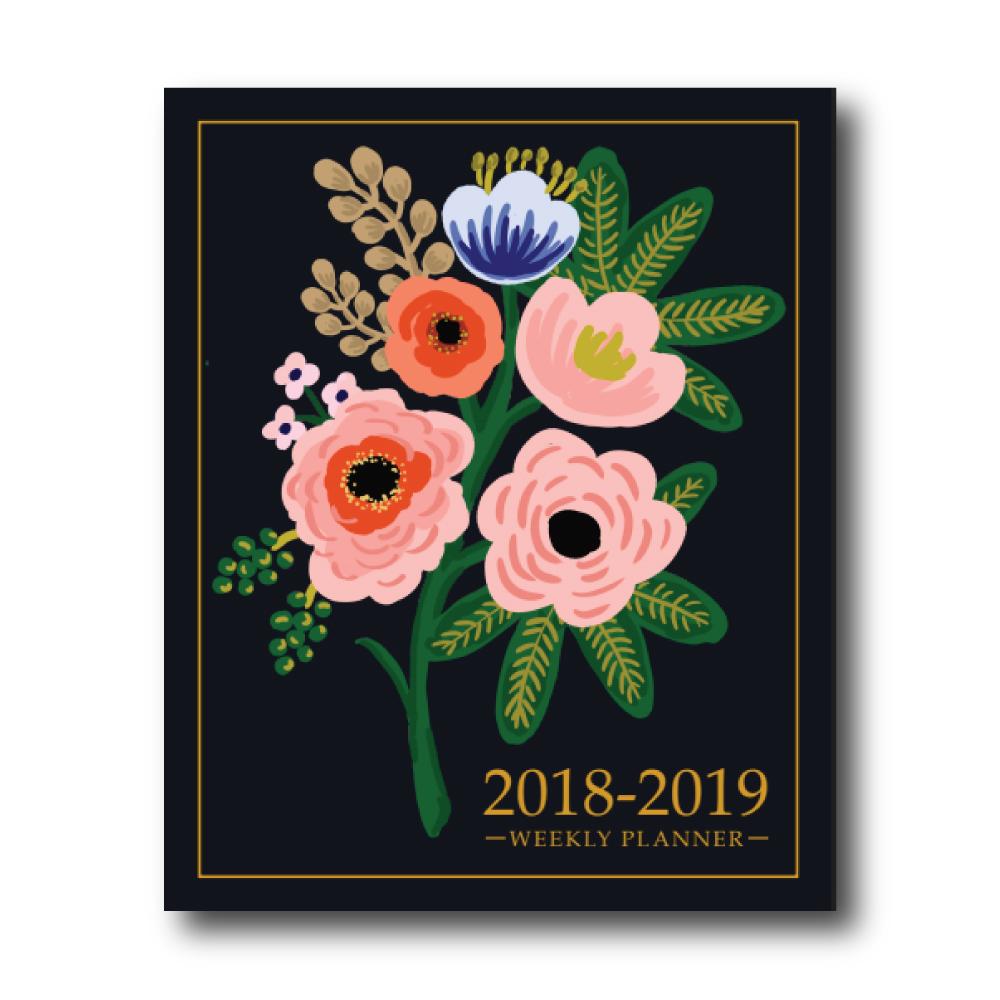 2018-2019 Weekly Planner: Boquet