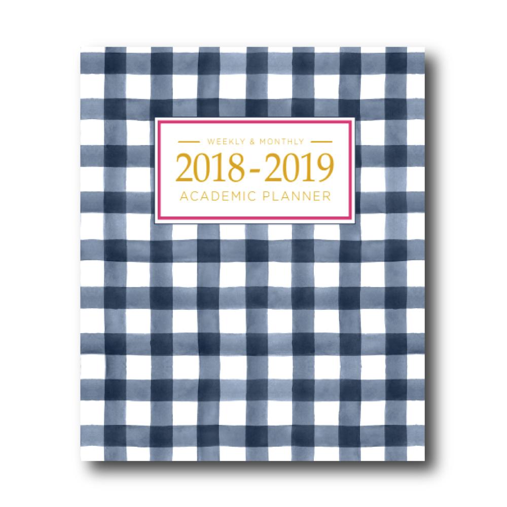 2018-2019 Academic Planner: Gingham