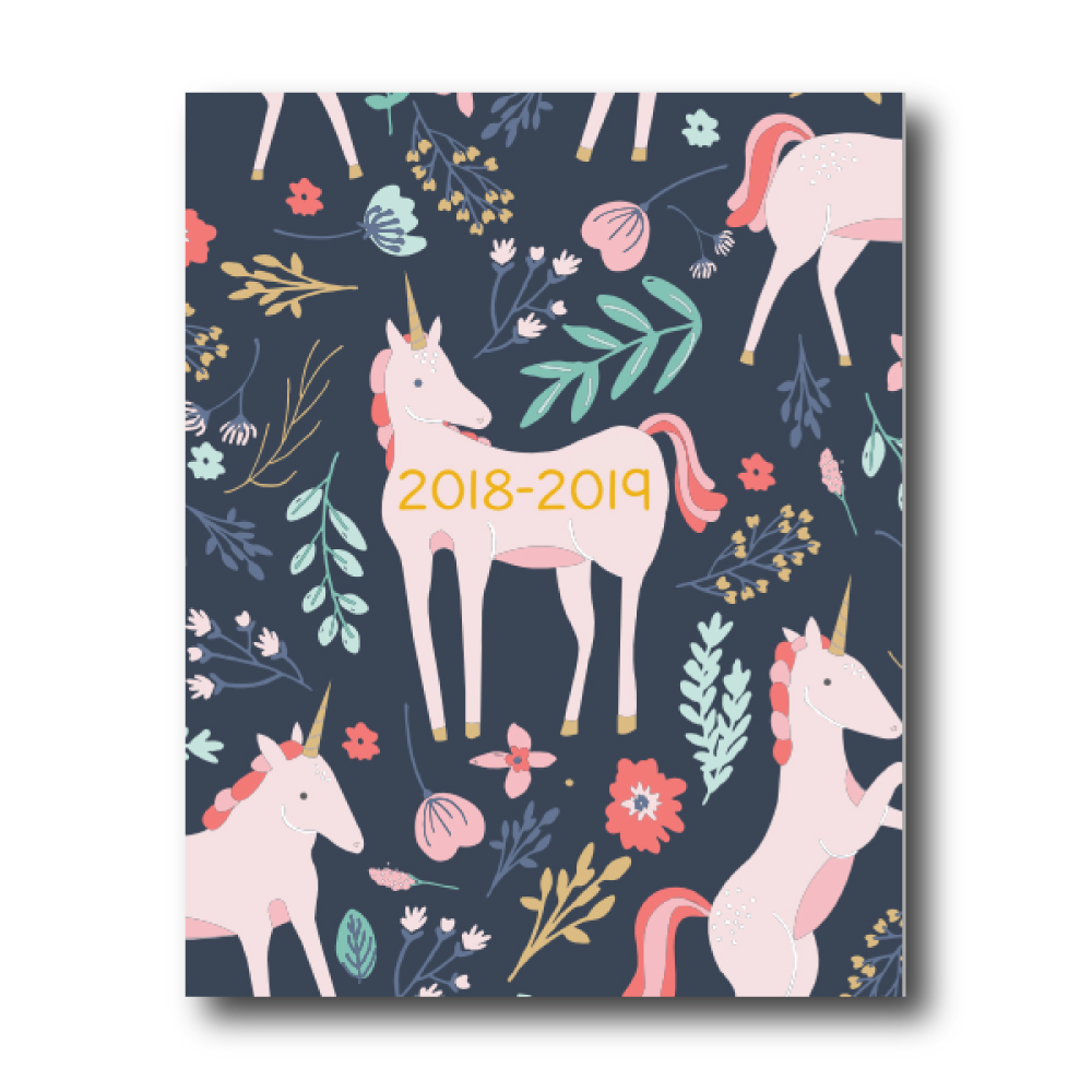 2018-2019 Weekly Planner: Unicorn
