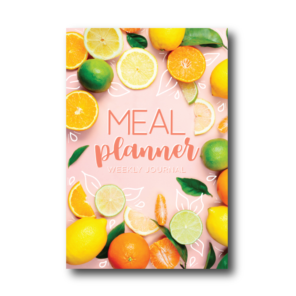 Weekly Meal Planner Journal: Citrus