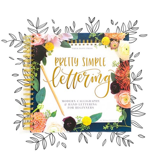 Hey there! Our @paperpeonypress line has a new release that you will absolutely love! Pretty Simple Lettering by the insanely talented @whitneyfarnsworth!! This book is filled to the brim with Whitney's knowledge on hand lettering and brush lettering including 10 individual alphabets, 6 projects where she breaks down her design and composition techniques, and 8 projects for you to do on your own! The best part is that the book is covered in gorgeous flowers! There is a #primeday sale going on right now - use the code PRIMEBOOK19 and receive $5 off which means this title is only around 15 bucks! We're so excited to share this book with the world!