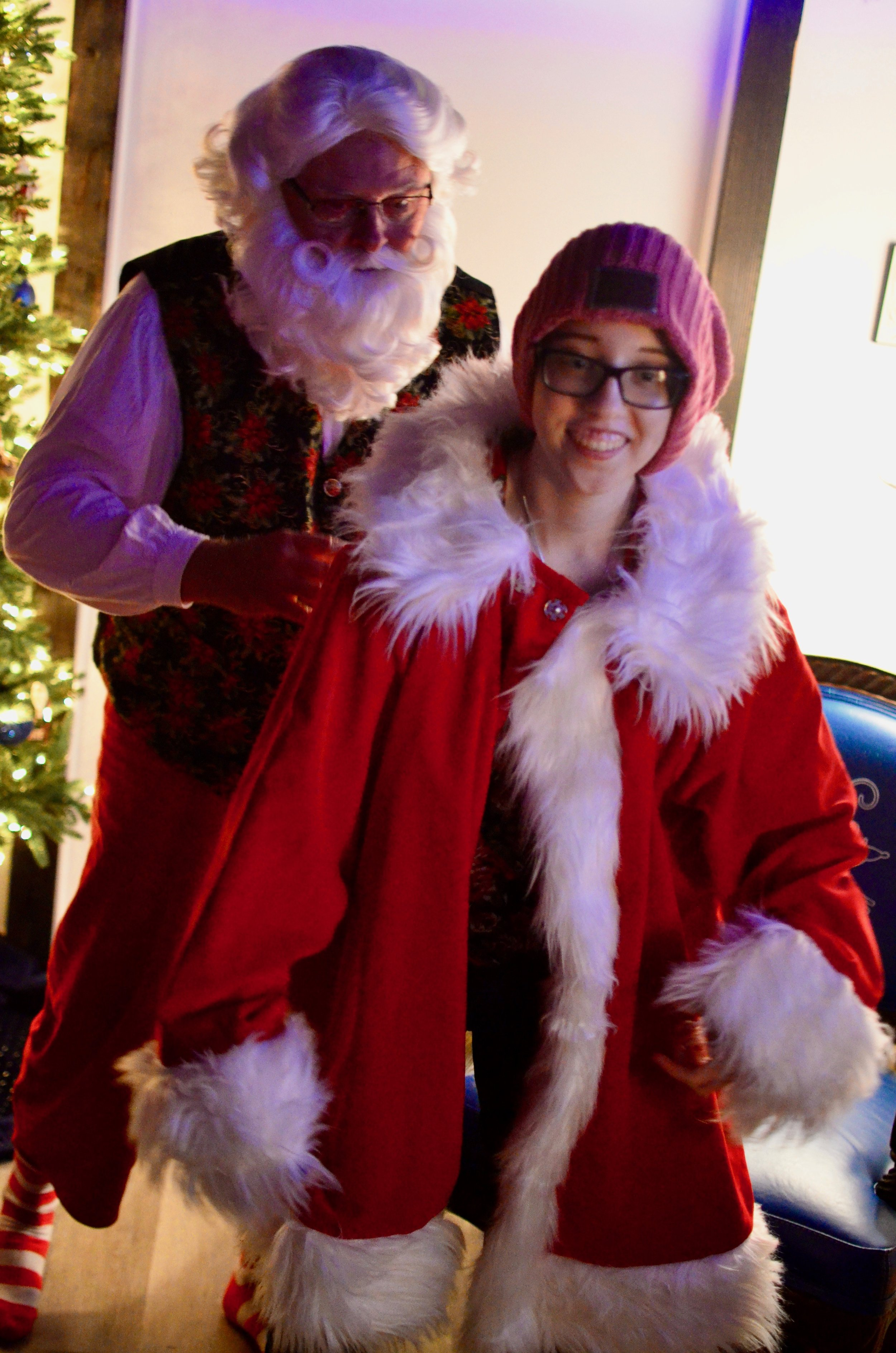 Being Santa - When you can't go to the mall for a picture with Santa because of a compromised immune system we have the perfect solution! A one-on-one, controlled environment where you can even try on the big man's boots and coat!