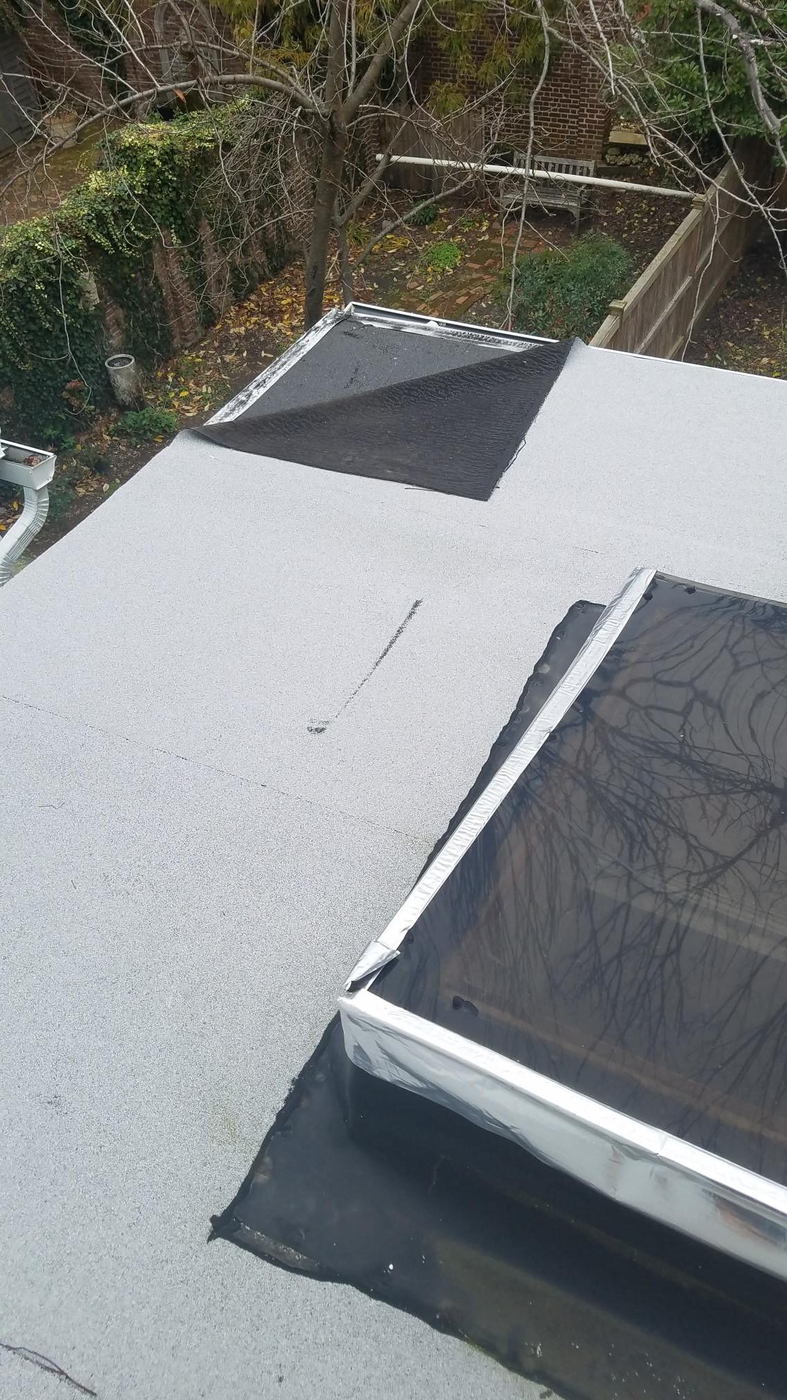 Flat Roof Damage Caused Leak