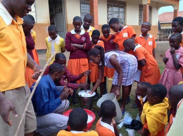 Esther Sabila Teaching How to Make Liquid Soap