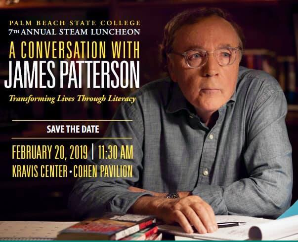 An amazing event! James Patterson's generosity was on display! He donated hundreds of books, hours of his time, and a number of scholarships for the university!