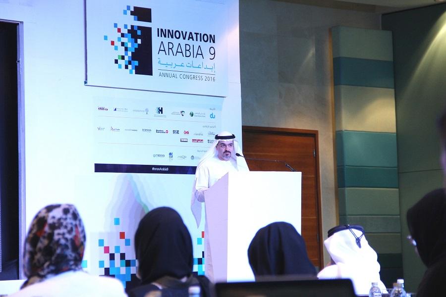 Abdulla Al Awar, CEO, Dubai Islamic Economy Development Centre (DIEDC) during his speech at Innovation Arabia 9.