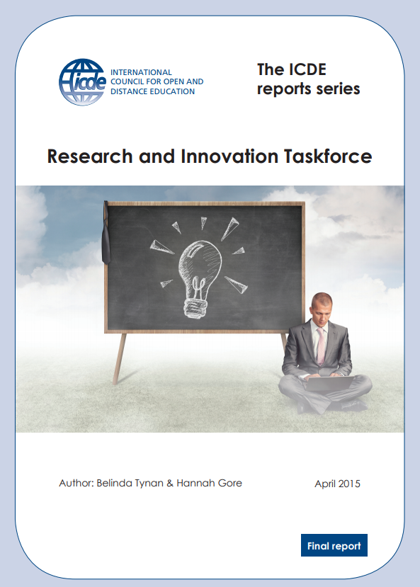 Research and Innovation ICDE TaskForce 2015 April Belinda Tynan and Hanna Gore.png