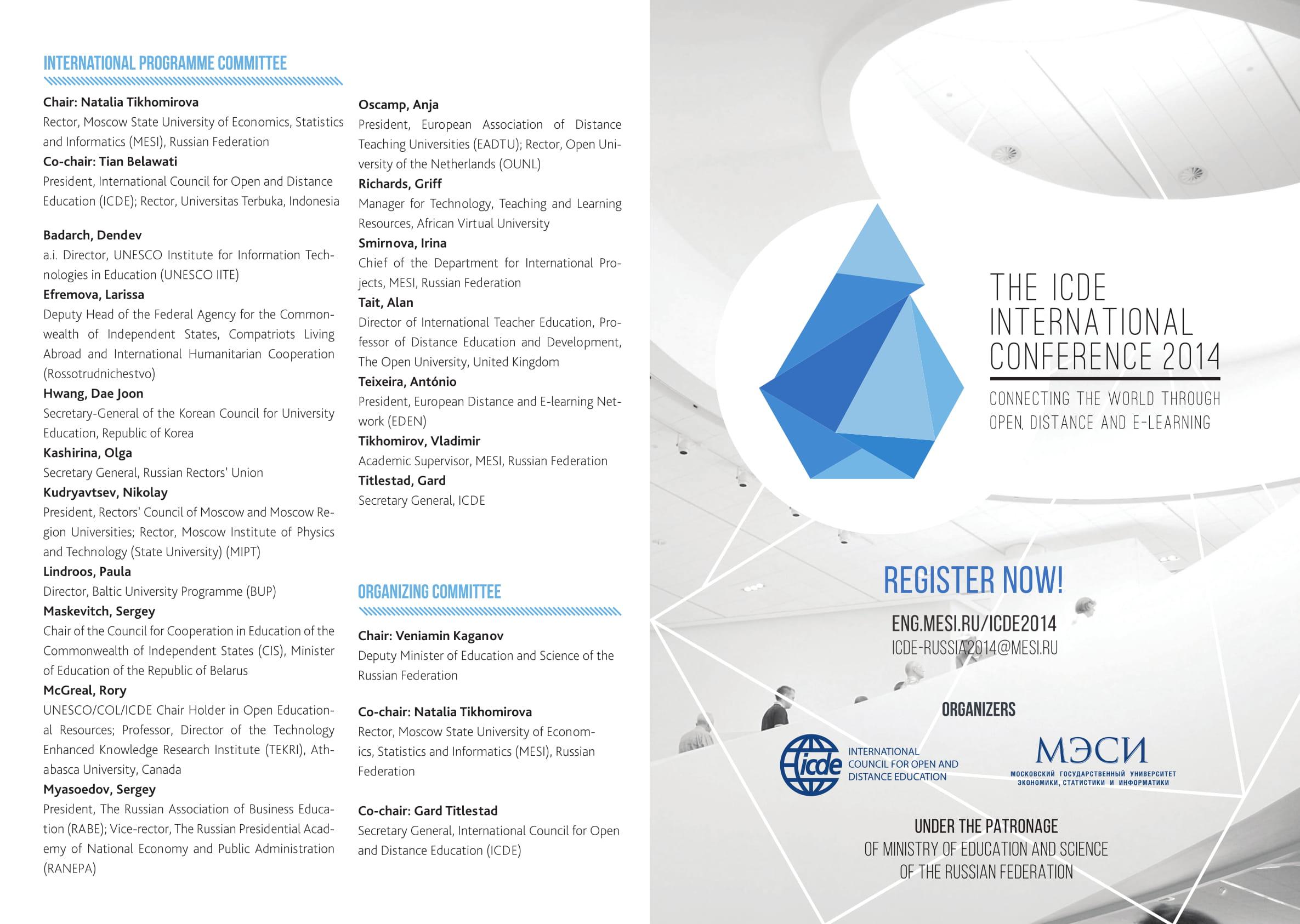 Programme ICDE MESI 2014