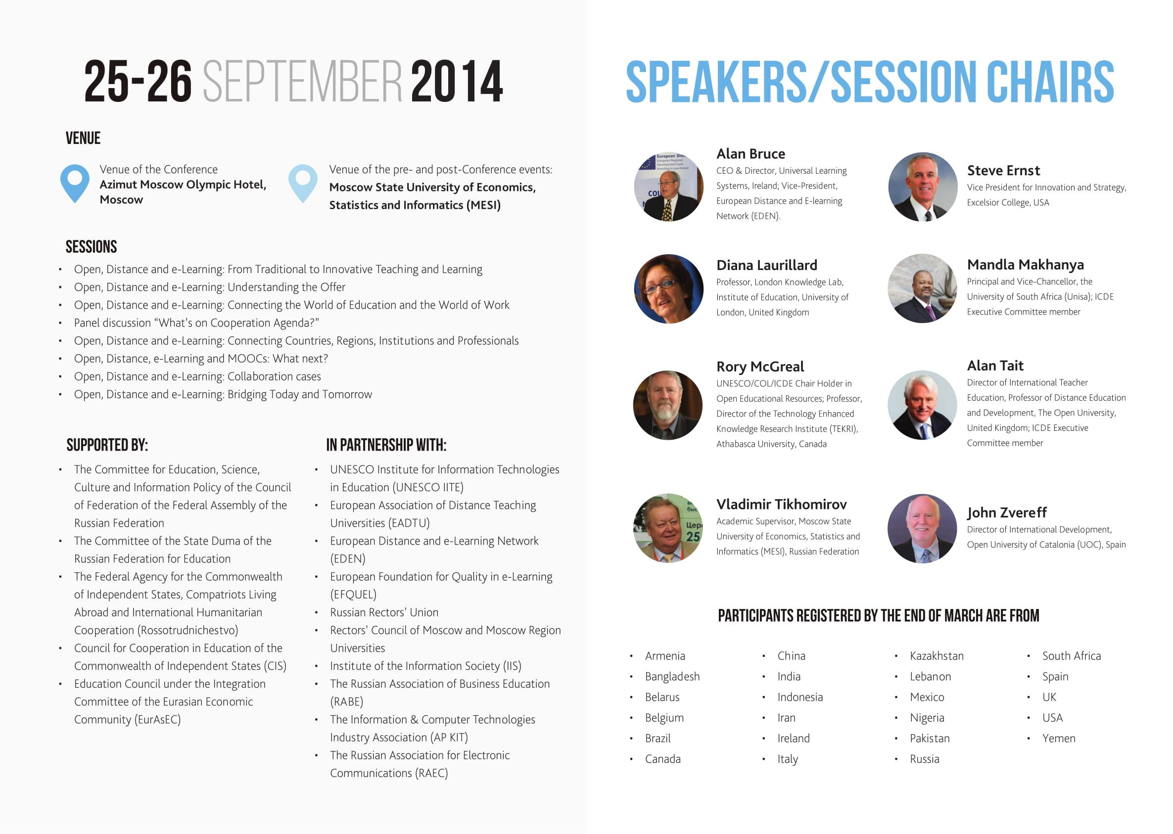 ICDE MESI Moscow 2014 programme