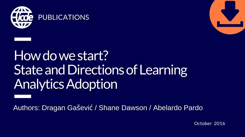 How do we start? State and Directions of Learning Analytics Adoption