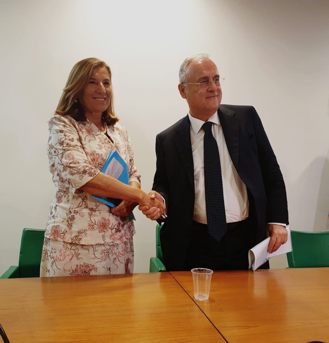 Uninettuno's Rector Garito and Lazio's Football team President Lotito