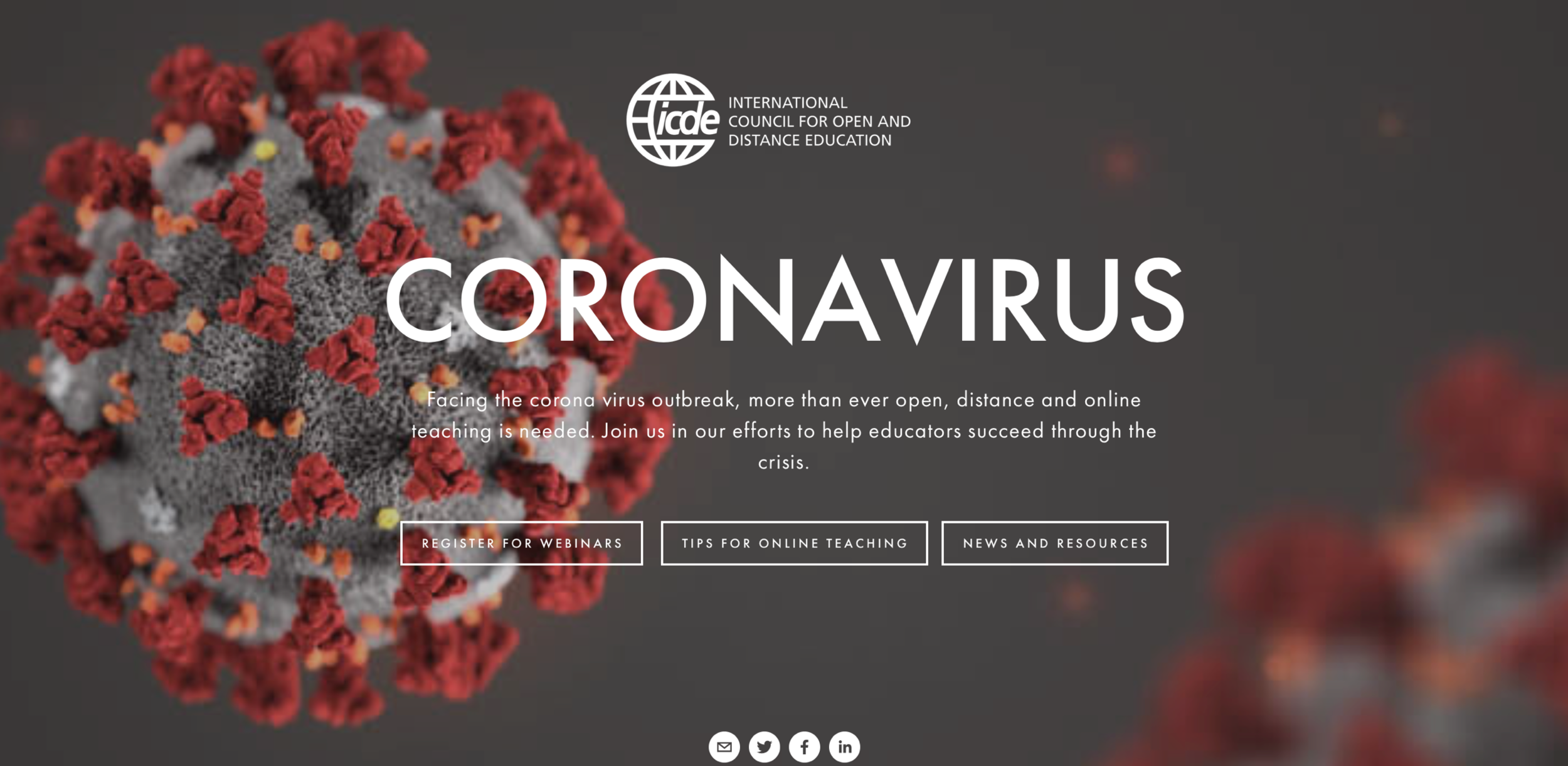 Open Online And Distance Teaching And Learning During The Corona Virus Pandemic Learningtogether Icde