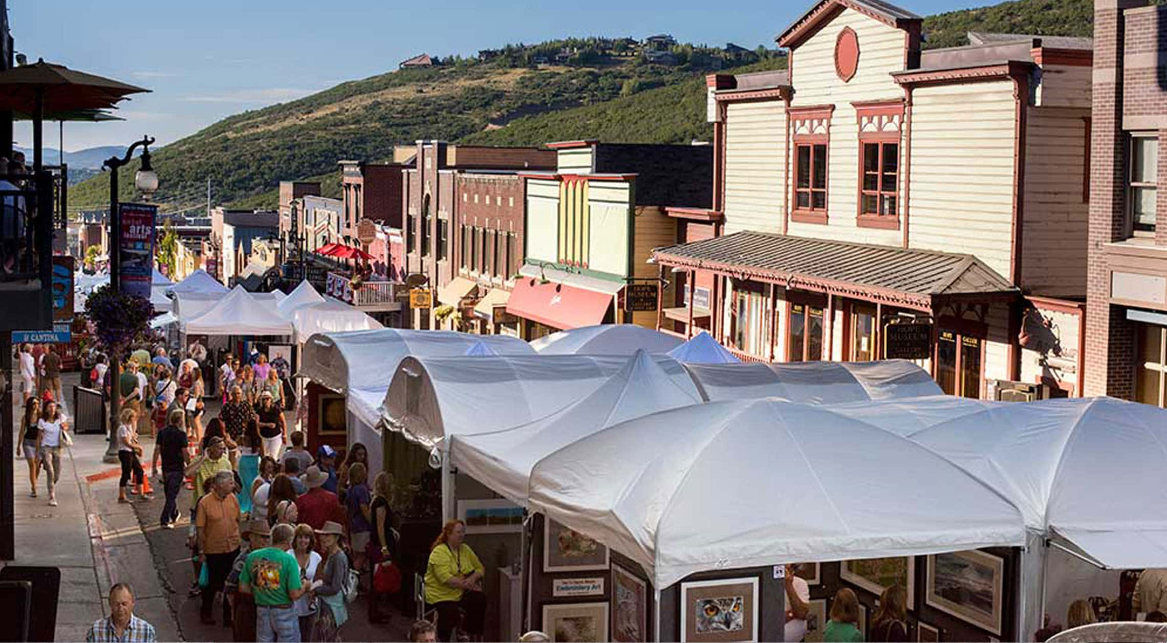 Photo Credit to: https://historicparkcityutah.com/events/49th-annual-park-city-kimball-arts-festival