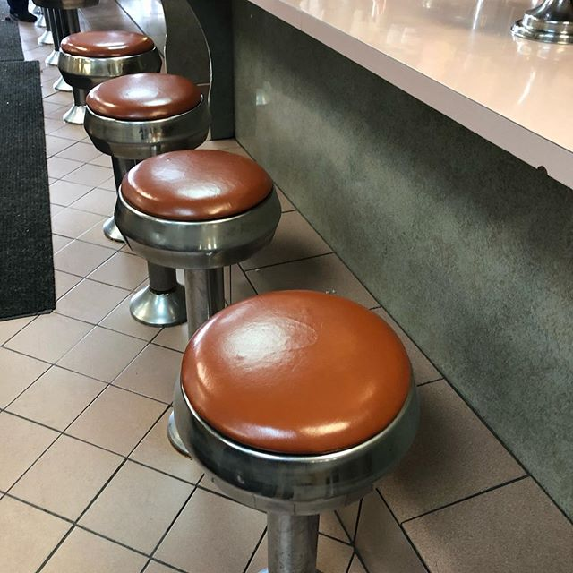 Best Coffee Shop Brooklyn New York The Furniture was manufactured by Rollhaus Seating Products  It  seems like the furniture lasts forever! #seatingproducts #restaurantfurniture #counterstools #classicdiner #restaurantdecor #restaurantdesign #bestcoffeeanddonuts