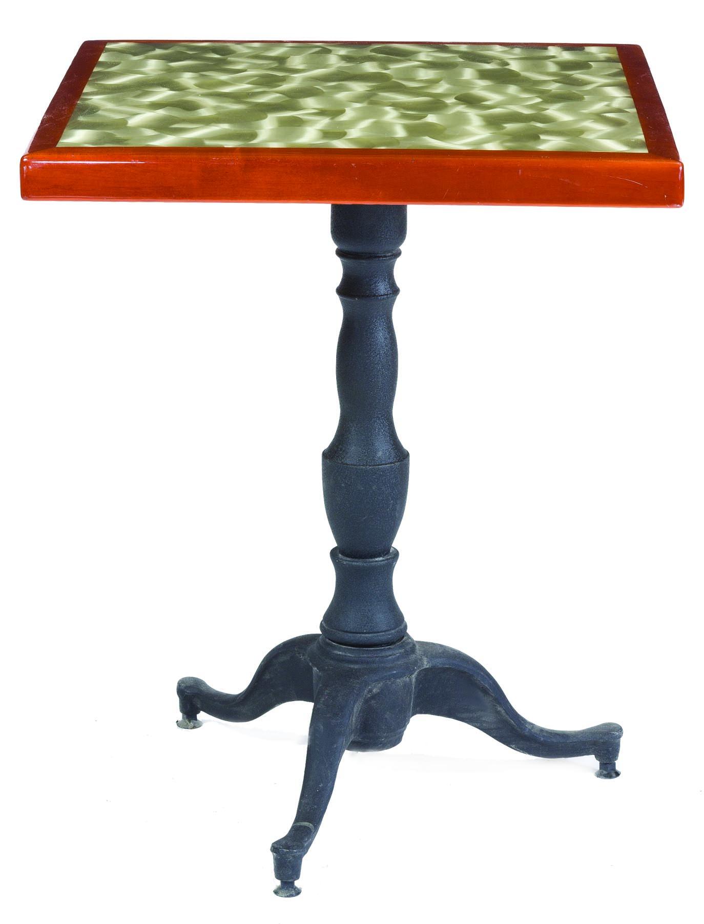 B6 - Cast Iron Table Base/ Steel Column